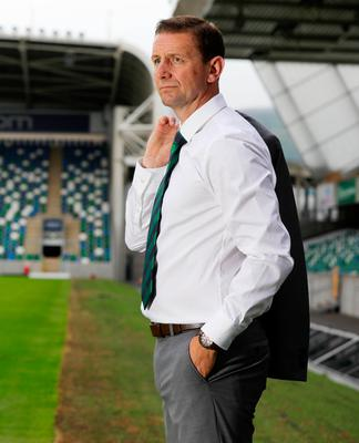 Taking it in: Ian Baraclough has a look around Windsor Park after being appointed Northern Ireland manager