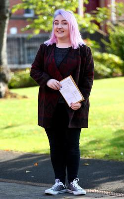 Picture - Kevin Scott / Belfast Telegraph  Belfast - Northern Ireland - Thursday 13th August 2015 - A Level Results Day   Pictured is Lucy Doughan 2A* and 1 A during A level results day at St Dominics  Picture - Kevin Scott / Belfast Telegraph
