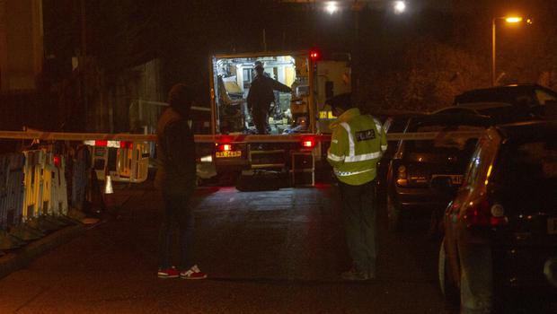 Homes in Newry were evacuated due to a security alert. Pic Newraypics.com