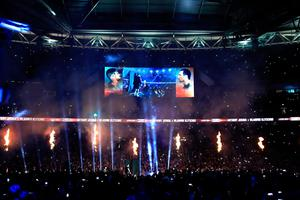 LONDON, ENGLAND - APRIL 29:  A general view prior to the fight between Anthony Joshua and Wladimir Klitschko for the IBF, WBA and IBO Heavyweight World Title bout  at Wembley Stadium on April 29, 2017 in London, England.  (Photo by Richard Heathcote/Getty Images)
