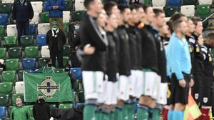 The 600 fans who were admitted to Windsor Park on Sunday were the first to watch Northern Ireland play since the coronavirus pandemic struck.