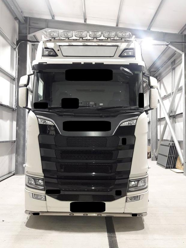 A lorry seized in county Monaghan.