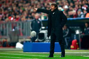 MUNICH, GERMANY - APRIL 02:  Juventus Head Coach Antonio Conte reacts during the UEFA Champions League quarter final first leg match between FC Bayern Muenchen and Juventus at Allianz Arena on April 2, 2013 in Munich, Germany.  (Photo by Joern Pollex/Bongarts/Getty Images)