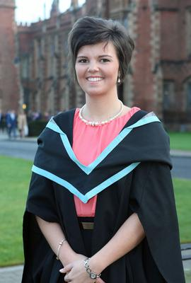 Deborah Jameson from Trillick who graduated in Nursing