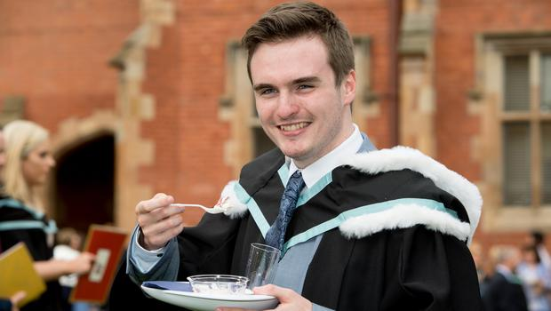 Ethan Morgan, from Lurgan, celebrated graduating with a degree in Architecture, from the School of Natural and Built Environment at Queen's University Belfast.