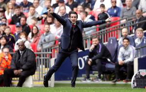 Unai Emery also felt referee Taylor made some mistakes in the derby (John Walton/PA)