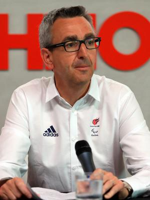 CEO of ParalympicsGB Tim Hollingsworth during the ParalympicsGB Flagbearer announcement ahead of the 2016 Rio Paralympic Games, Brazil. PRESS ASSOCIATION Photo. Picture date: Tuesday September 6, 2016. Photo credit should read: Adam Davy/PA Wire. EDITORIAL USE ONLY
