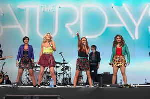 The Saturdays perform at Radio One's Big Weekend, at Ebrington Square in Londonderry. PRESS ASSOCIATION Photo. Picture date: Saturday May 25, 2013. Photo credit should read: Niall Carson/PA Wire