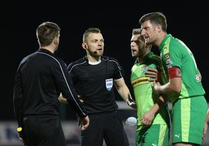 Tim Marshall will referee the Irish Cup final but will the Cliftonville players be there?