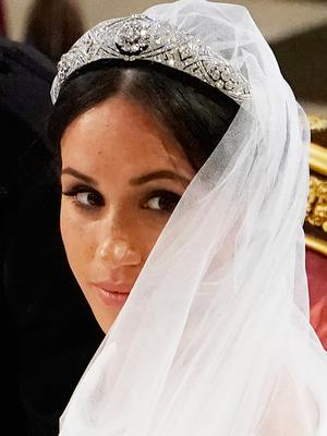 Meghan Markle in St George's Chapel at Windsor Castle during her wedding to Prince Harry. PRESS ASSOCIATION Photo. Picture date: Saturday May 19, 2018. See PA story ROYAL Wedding. Photo credit should read: Owen Humphreys/PA Wire
