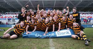 3 March 2015 -   Picture by Darren Kidd / Press Eye  Danske Bank Ulster Schools? Cup semi-final, Coleraine AI and RBAI at Kingspan Stadium.  RBAI go through to the final