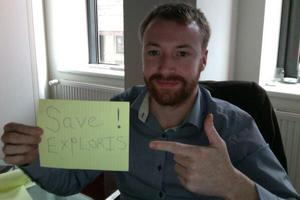 Save Exploris campaigners. Love and support from Brussels, Belgium. Image source: Twitter
