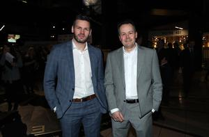 Press Eye - Belfast - Northern Ireland - 31st January 2019 -   Guests arrive on the red carpet as Tourism NI marked the start of the official build up to The 148th Open at Royal Portrush with a celebration of Northern Irish talent from sport, music, arts and screen at Titanic Belfast this evening. Pictured are Adam Keefe and Chris McMahon.   Visit https://youtu.be/KPPKRrsR-js to watch the cinematic film ÔWeÕve come a long wayÕ which was premiered on the night.    Photo by Kelvin Boyes / Press Eye.
