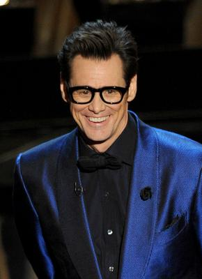 HOLLYWOOD, CA - MARCH 02:  Actor Jim Carrey speaks onstage during the Oscars at the Dolby Theatre on March 2, 2014 in Hollywood, California.  (Photo by Kevin Winter/Getty Images)