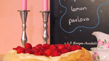 Lemon Curd and Raspberry Pavlova