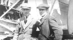 Airborne pioneers: Arthur Whitten Brown and John Alcock