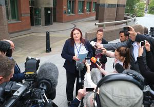 Detective Inspector Rebecca Dickinson makes a statement outside Sheffield Crown Court after Albert Grannon was jailed for three years (Danny Lawson/PA)