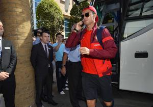 ©Russell Pritchard  5th September 2013 The Portugal team arrive in Belfast today ahead of their World Cup Qualifier against Northern Ireland Real Madrids Christiano Ronaldo ©Russell Pritchard / Presseye