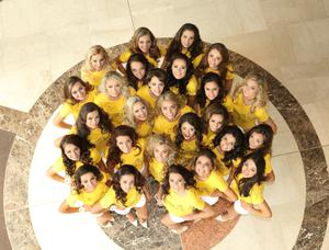 The 26 finalists of the 2014 Open + Direct Miss Northern Ireland contest ahead of the contest final which will take place at the Europa Hotel.