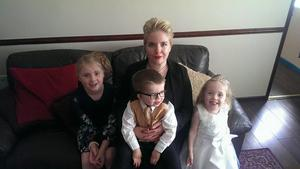Proud parent: Seanin Hughes with her children (from left) Naiomh, Layne and Aoife