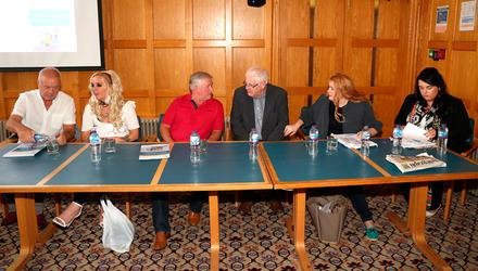Attending the Addressing The Legacy Of Northern Ireland's Past conference last month were (from left) Raymond McCord, Tracey Coulter, Michael Monaghan, Michael Gallagher, Cat Wilkinson and Nicola McGowan