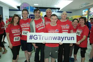 GRANT THORNTON RUNWAY RUN SCALES NEW HEIGHTS The team from Equiniti get warmed up for last nightÕs Grant Thornton Runway Run at Belfast City Airport. The hugely-popular event attracted a record number of runners as 600 local businessmen and women took part in the 5k run on the tarmac of the airport. Teams of four from organisations across a wide range of sectors came together for the third year of the leading business advisory firmÕs event. Ê