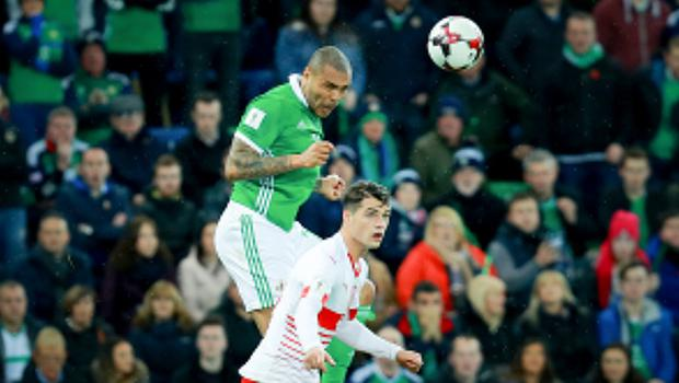 Northern IrelandÕs Josh Magennis in action during the World Cup qualifying playoff at Windsor Park on November 9th 2017   (Photo by Kevin Scott / Belfast Telegraph)
