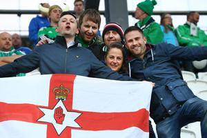 Northern Ireland's fans during Friday nights UEFA EURO 2016 Qualifier against the Faroe Islands at the Torsvollur stadium in Torshavn.