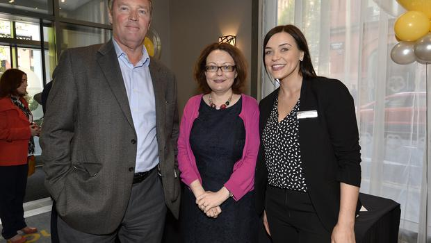 17th May 2018 Andrew Horne,Anne Trainor,and Francine OHagan pictured at the Grand opening of the new Maldron Hotel in Brunswick street in Belfast  Mandatory Credit: Presseye/Stephen Hamilton