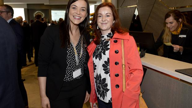 17th May 2018 Sarah Ann Gamble and Francine OHagan pictured at the Grand opening of the new Maldron Hotel in Brunswick street in Belfast  Mandatory Credit: Presseye/Stephen Hamilton