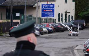 Police at a security alert in the Fairmount Park area of Dungannon. Photo: Arthur Allison/Pacemaker Press