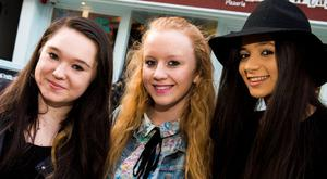 Enna Gibson, Rebekah Spratt and Yasmin Anderson at Little Wing , Ann Street during Belfast Culture Night
