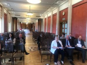 Only nine MLAs attended the event at Stormont.
