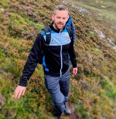 Portadown man Mark Elliott who died after collapsing while walking in the Mourne Mountains.