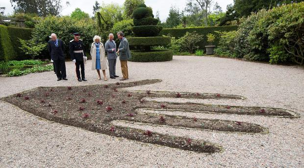 ANTRIM, NORTHERN IRELAND - MAY 22:  Prince Charles, Prince of Wales and Camilla, Duchess of Cornwall visit Mount Stewart House and Garden on May 22, 2015 in Newtownards, Northern Ireland. Prince Charles, Prince of Wales and Camilla, Duchess of Cornwall visited Mount Stewart House and Gardens and Northern Ireland's oldest peace and reconciliation centre Corrymeela on the final day of their visit of Ireland.  (Photo by Eddie Mulholland - Pool/Getty Images)