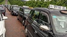Taxi drivers protest at Stormont