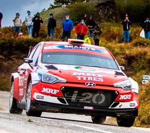 Hard road: There was trouble ahead for Craig Breen in Portugal