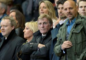 Former Liverpool manager Kenny Dalglish looks on during the UEFA Europa league quarter-final second leg football match between Liverpool  and Borussia Dortmund at Anfield stadium in Liverpool on April 14, 2016. / AFP PHOTO / OLI SCARFFOLI SCARFF/AFP/Getty Images
