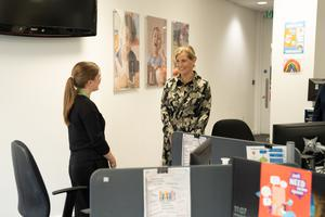 The Countess of Wessex during a visit to Childline in London (Casey Gutteridge/NSPCC/PA)