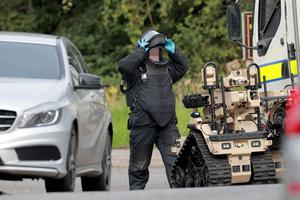 Police and ATO at the scene of a security alert in west Belfast  on August 6th 2020 (Photo by Kevin Scott for Belfast Telegraph)
