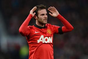 MANCHESTER, ENGLAND - FEBRUARY 09:  Juan Mata of Manchester United reacts during the Barclays Premier League match between Manchester United and Fulham at Old Trafford on February 9, 2014 in Manchester, England.  (Photo by Michael Regan/Getty Images)