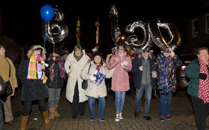 The ogle family as A vigil is held Cluan Place where Ian Ogle was murdered on January 30th 2019 (Photo by Kevin Scott for Belfast Telegraph)