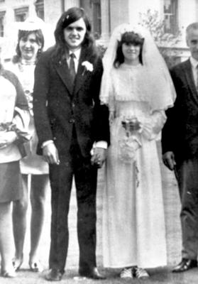Desmond Reilly with his wife on their wedding day (Family/PA)