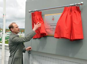 Earl of Wessex at Balmoral Show Day 1 at the new Balmoral Park site on the former Maze prison site. HRH Prince Edward is pictured during the offical opening of this years show. Photo by Simon Graham/Harrison Photography.