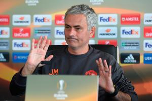 Manchester United manager Jose Mourinho takes part in a press conference at their Carrington base in Manchester, northwest England, on October 19, 2016 ahead of their UEFA Europa League group A football match against Fenerbahce on October 20. AFP/Getty Images