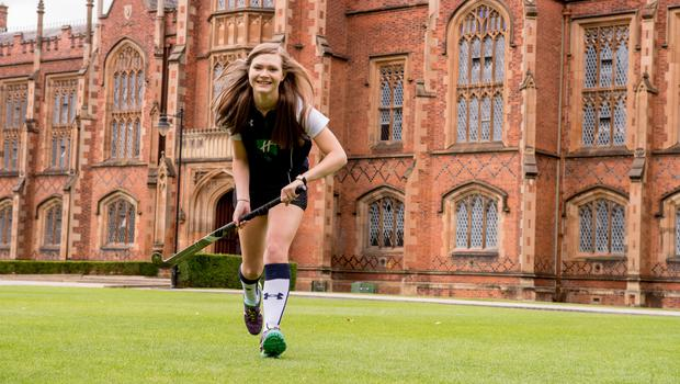Leah Crooks, who is graduating with a degree in Law and Politics from the School of Law at Queen's University Belfast.