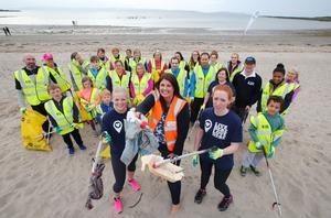 More than 20 participants turned out for a Coca-Cola Clean Coasts Week Beach Bootcamp and Clean-up event at Ballyholme Beach in Bangor