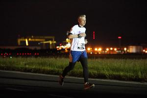 Press Eye - Belfast -  Northern Ireland - 24th June 2015 - Jonathan McCambridge from the Belfast Telegraph takes part in the first ever Grant Thornton Runway Run at Belfast City Airport this evening. Picture by Kelvin Boyes / Press Eye.
