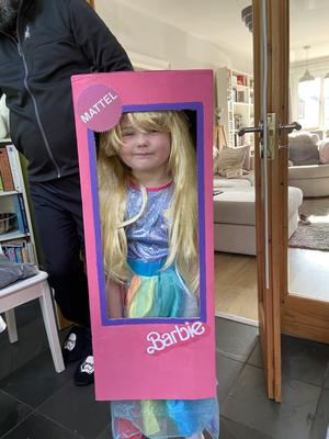 Imogen Smylie aged 6 from Antrim as Barbie