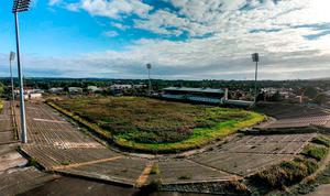 Sorry sight: Casement Park in its current state of disrepair, but Ulster Council officials hope a decision on redevelopment will come soon